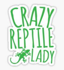 CRAZY REPTILE LADY Sticker