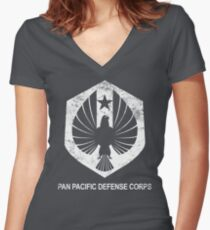 Pan Pacific Defense Corps Women's Fitted V-Neck T-Shirt