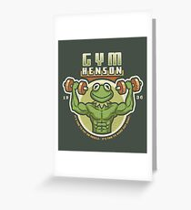 Gym Henson Greeting Card
