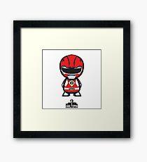 Red Power Ranger Framed Print