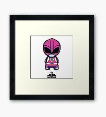 Pink Power Ranger Framed Print