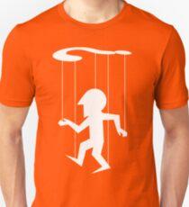 Puppet of Doubt [light design for dark t-shirt] Unisex T-Shirt