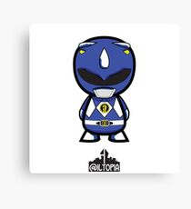 Blue Power Ranger Canvas Print