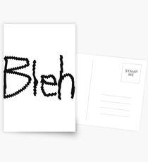 Bleh. Postcards