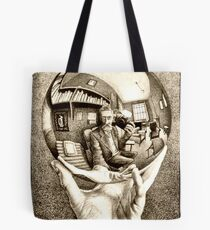 Escher's selfie Tote Bag