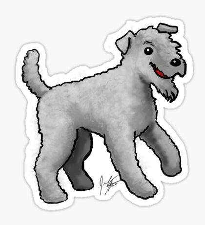 Carrie Blue Terrier Sticker
