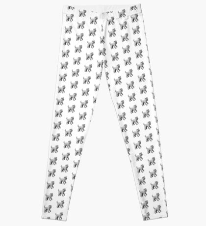 Carrie Blue Terrier Leggings