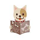 Cute dog with a catalog of bone by ankomando