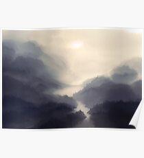 The bridge in the mist Poster