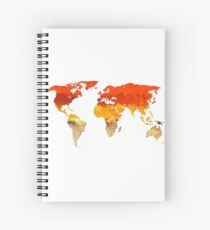 Colorful World Map Spiral Notebook