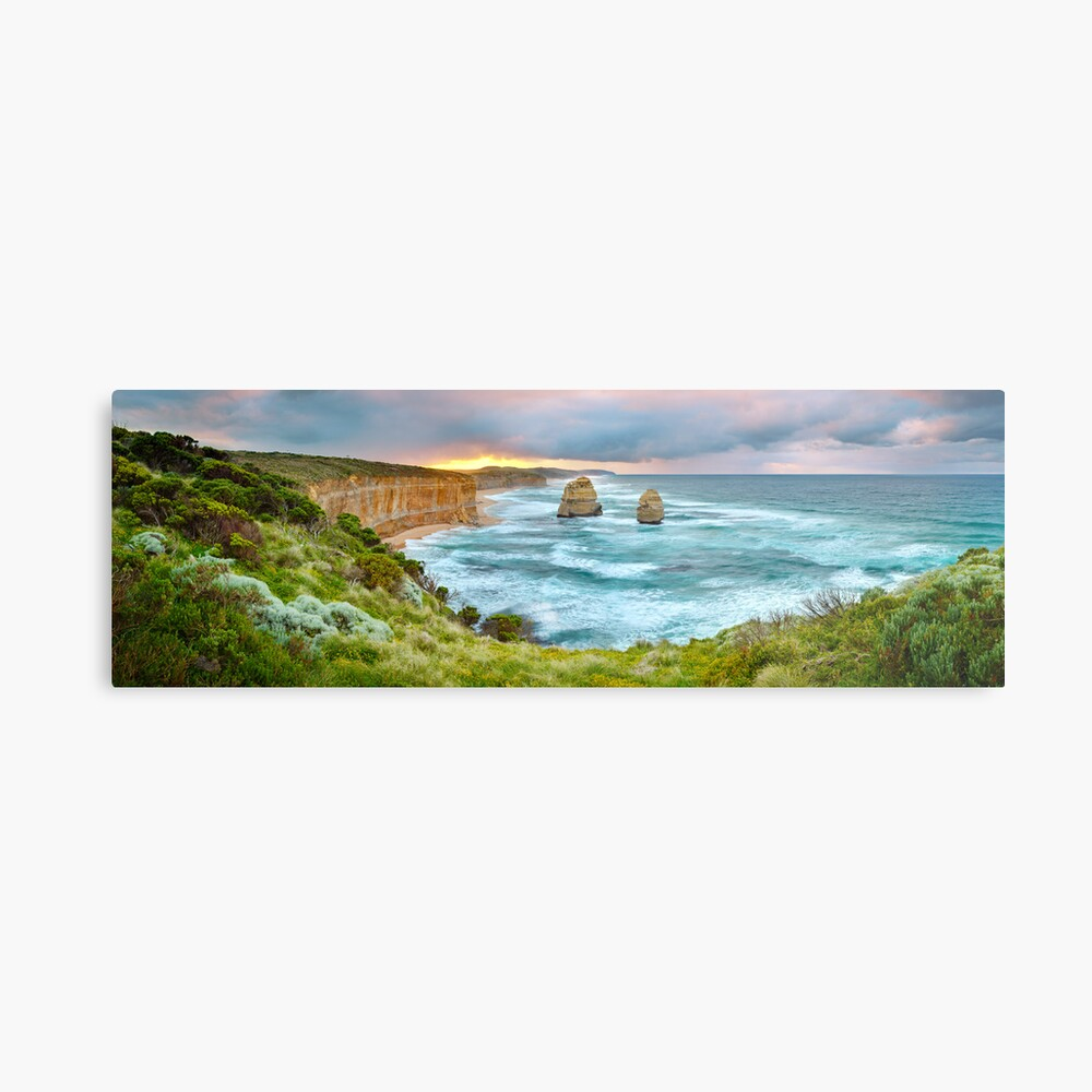 Gibsons Beach, Twelve Apostles, Great Ocean Road, Victoria, Australia Metal Print