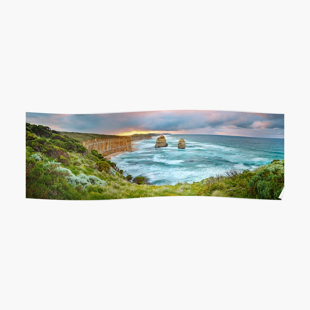 Gibsons Beach, Twelve Apostles, Great Ocean Road, Victoria, Australia Poster