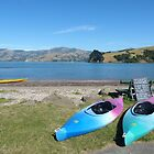 On the shore of Akaroa Harbour by PhotosByG