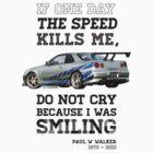 Paul Walker Tribute GTR - Halftone by Bacn