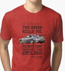 Paul Walker Tribute GTR - Halftone Tri-blend T-Shirt