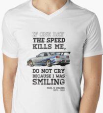 Paul Walker Tribute GTR - Halftone Men's V-Neck T-Shirt