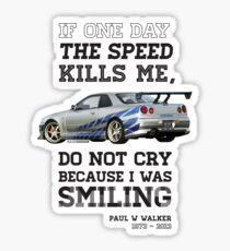 Paul Walker Tribute GTR - Halftone Sticker