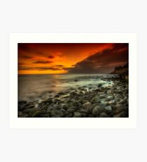 Steephill Cove Sunset Art Print