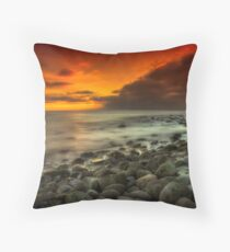 Steephill Cove Sunset Throw Pillow