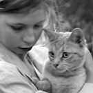 girl with cat by LouJay