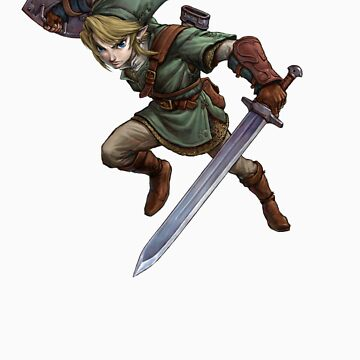 Link with sword by Hyruler
