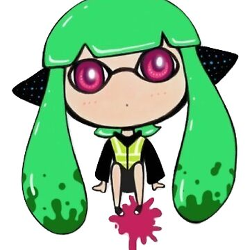 Chibi Inkling Girl (agent 3) by ninjasTopHat