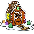Gingerbread House Cartoon by Graphxpro