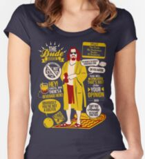 The Dude Quotes Women's Fitted Scoop T-Shirt
