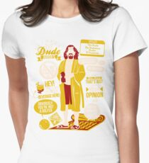 The Dude Quotes Womens Fitted T-Shirt