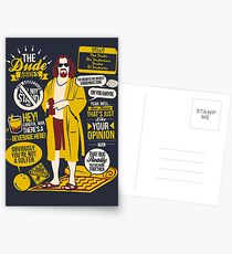 The Dude Quotes Postcards