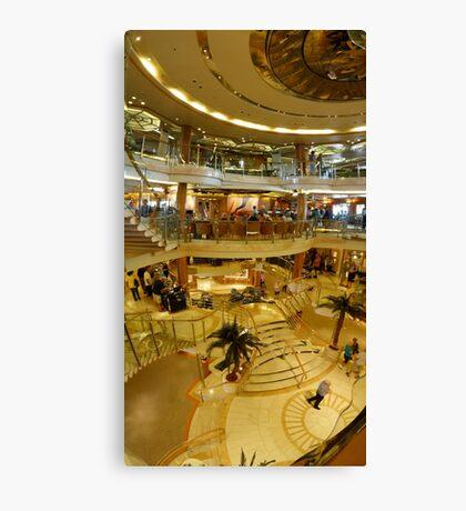 Cruise ship panorama Canvas Print