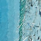 Flying Swirls of Gulls and Terns Abstract Impressionism by pjwuebker