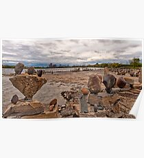 River sculptures Poster
