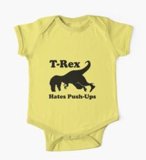 T-Rex Hates Push Ups Funny Dinosaur Kids Clothes