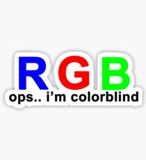 Colorblind Sticker