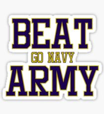 Go Navy Beat Army Sticker