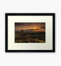Sutton Sunset North Yorkshire Framed Print