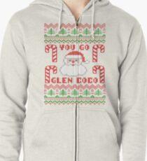 You Go Glen Coco Funny Ugly Christmas Sweater Hoodie mit Reißverschluss