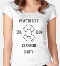 Pewter City Boulder Badge: Pokemon Kanto Region  Women's Fitted Scoop T-Shirt
