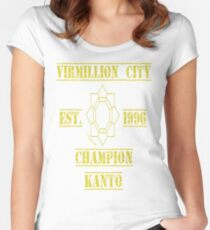 Vermillion City Champion: Pokemon Kanto Women's Fitted Scoop T-Shirt