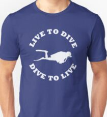 LIVE TO DIVE DIVE TO LIVE White SCUBA T-Shirt