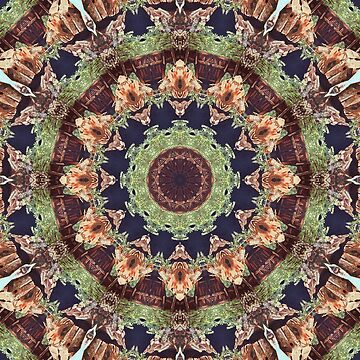 Mill 2 Kaleidoscope Mandala Fractal Chakra earth colors by deleas