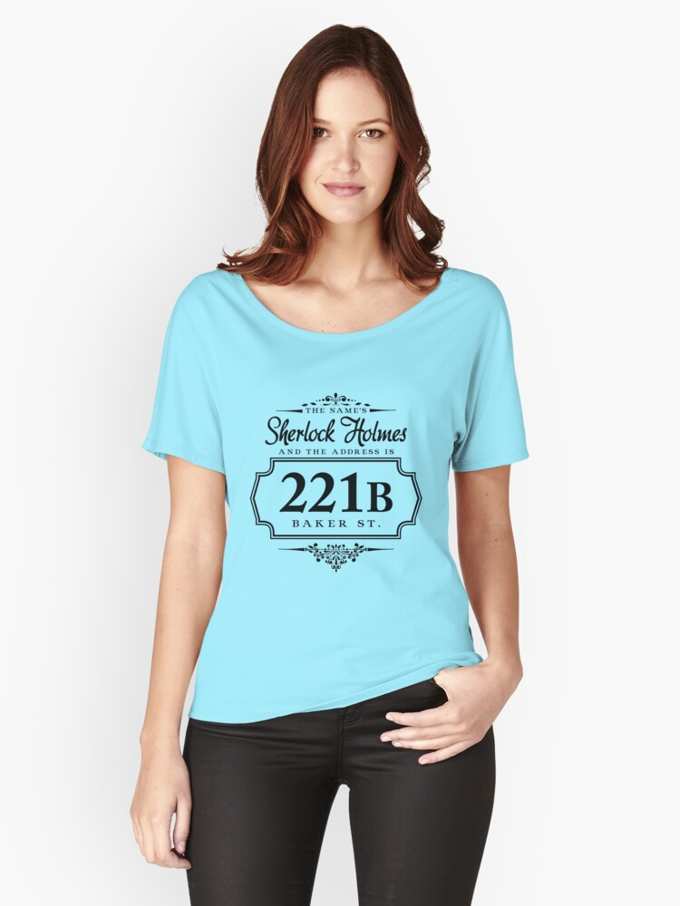 The name's Sherlock Holmes Women's Relaxed Fit T-Shirt Front