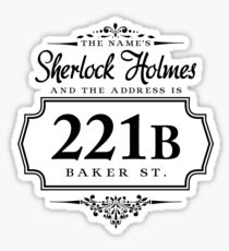 The name's Sherlock Holmes Sticker