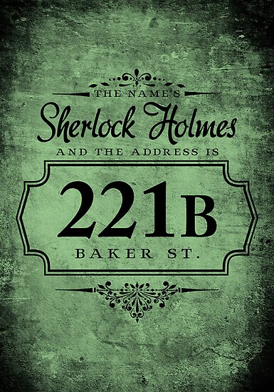 Quot The Name S Sherlock Holmes Quot Poster By Starrygazer Redbubble