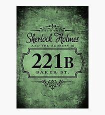 The name's Sherlock Holmes Photographic Print