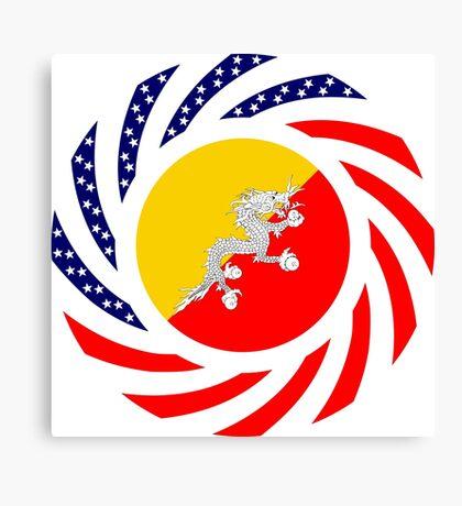 Bhutanese American Multinational Patriot Flag Series Canvas Print