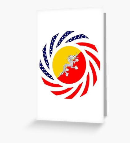 Bhutanese American Multinational Patriot Flag Series Greeting Card