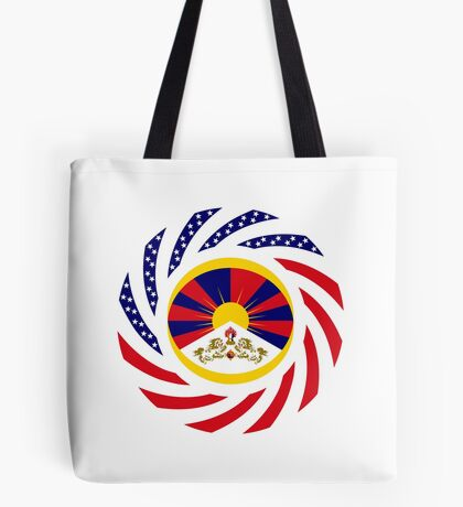 Tibetan American Multinational Patriot Flag Series Tote Bag