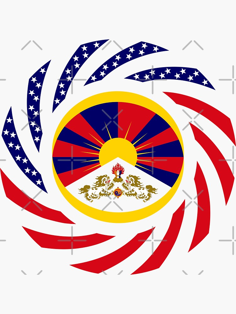 Tibetan American Multinational Patriot Flag Series by carbonfibreme